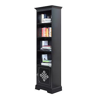 Libreria alta nera 1 anta