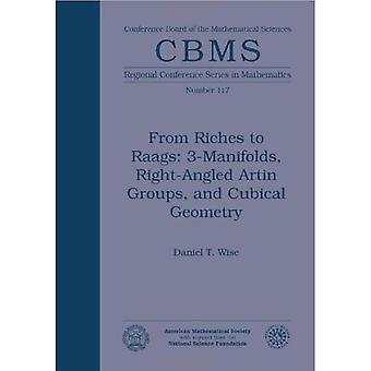 From Riches to Raags: 3-Manifolds, Right-Angled Artin Groups, and Cubical Geometry (Cbms Regional Conference Series in Mathematics)