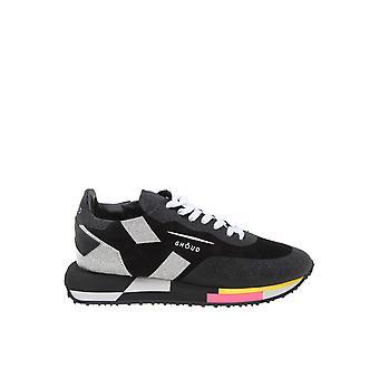 Ghoud Black Fabric Sneakers