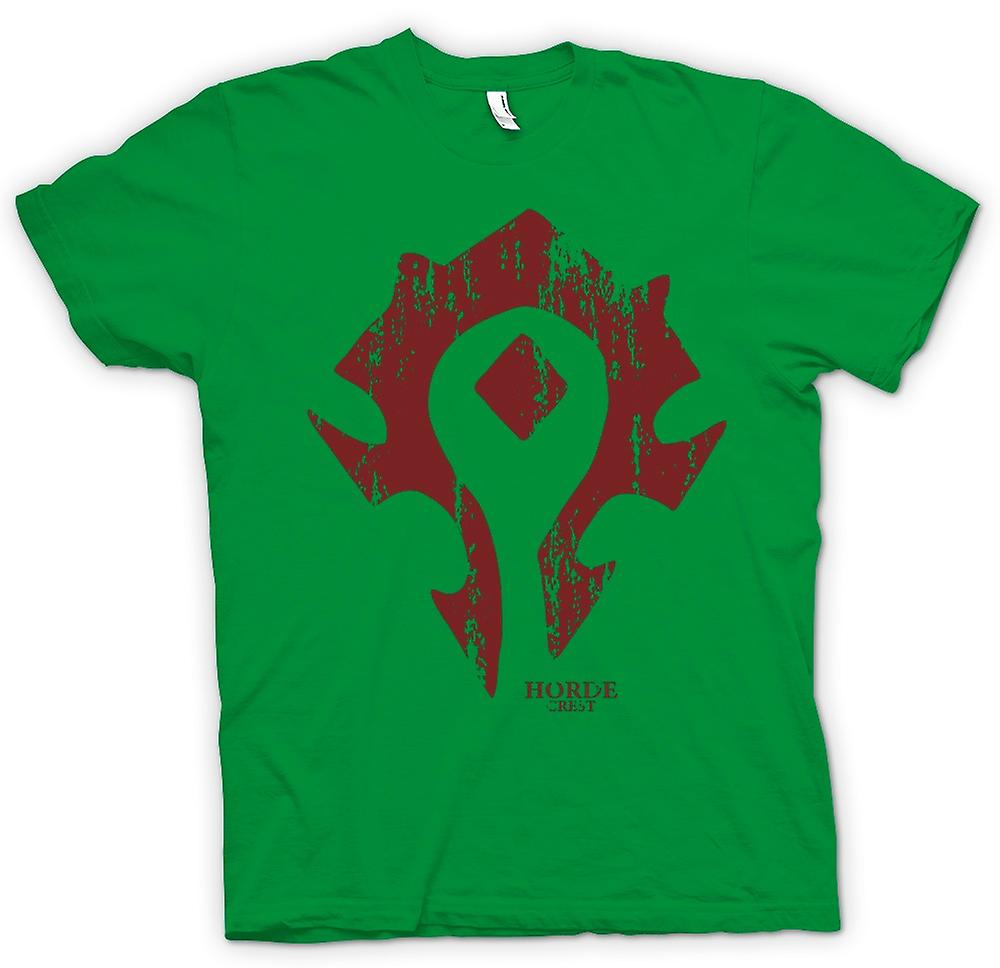 Mens T-shirt - Horde Crest Logo - World Of Warcraft Inspired