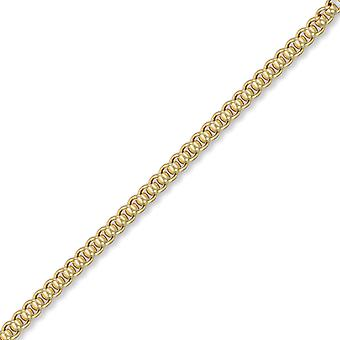 Jewelco London Unisex solid 9ct Gelbgold Premium Rollerball 4,6 mm Gauge Kette Halskette