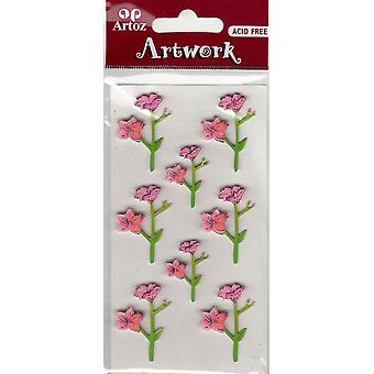Pink Orchids Craft Embellishment By Artoz