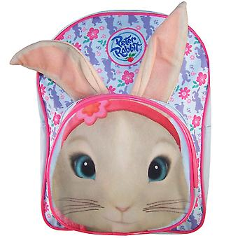 Childs Peter Rabbit Lily pale blue and pink backpack