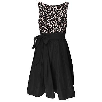 Frank Lyman Black Lace Sleeveless Cocktail Dress