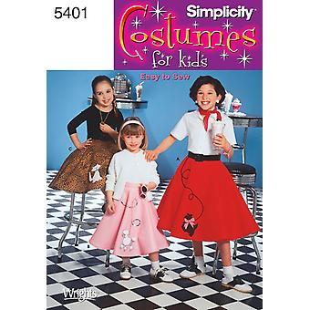 Simplicity Child's And Girls' Poodle Ski 7,8,10,12,14 U05401k5