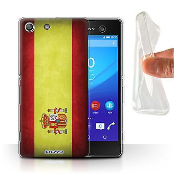 STUFF4 Gel/TPU Case/Cover for Sony Xperia M5/Spain/Spanish/Flags