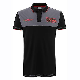 2016-2017 Union Berlin Macron Cotton Polo Shirt (Black)