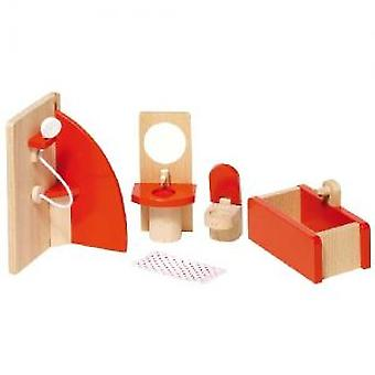 Goki Furniture for flexible puppets, bathroom, goki basic.