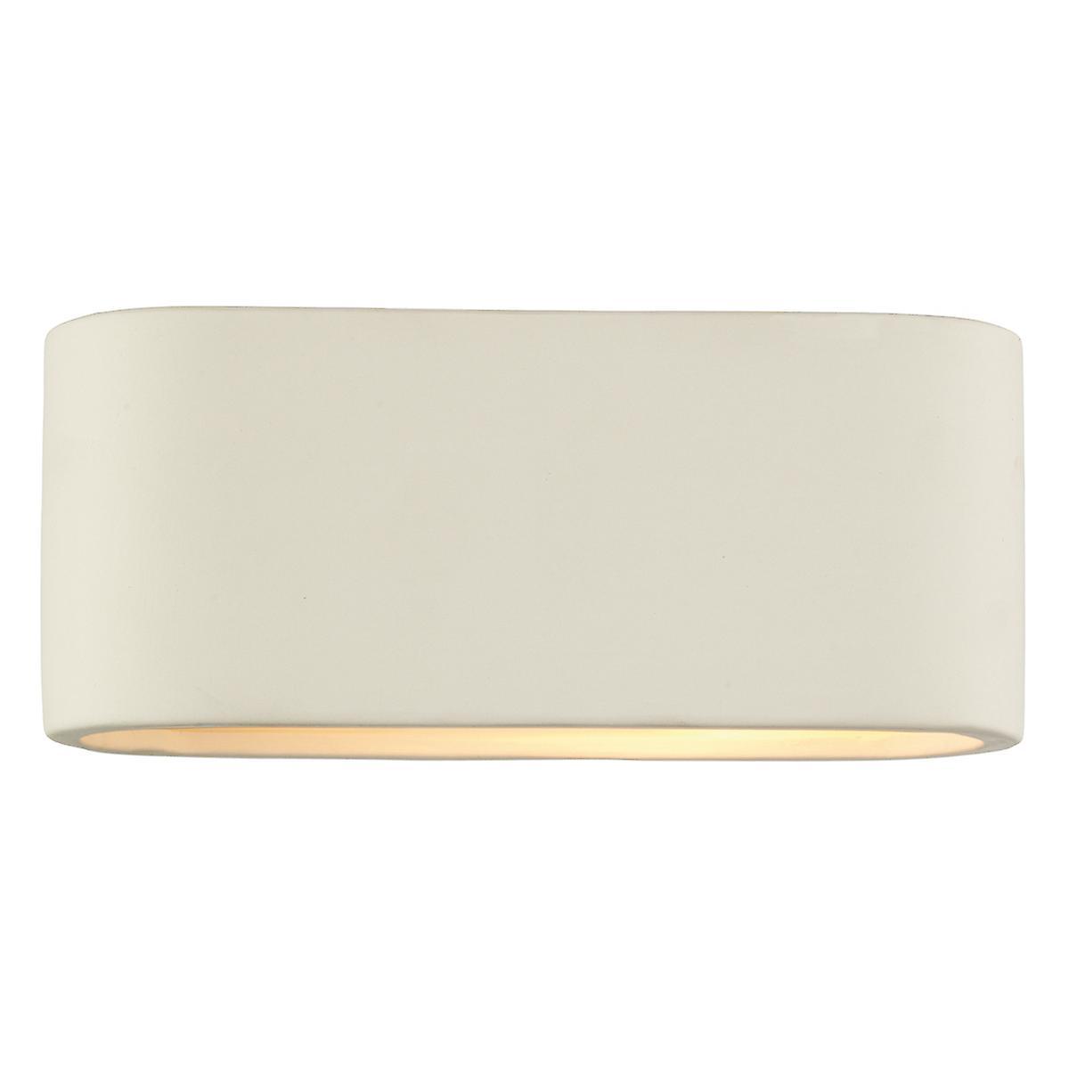 Dar AXT072 Axton piccolo in ceramica Wall Washer luce - doppio isolata