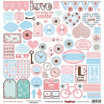 ScrapBerry's You And Me Single-Sided Cardstock 12