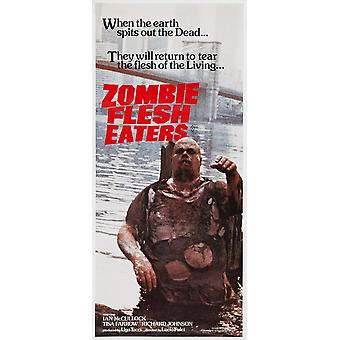 Zombie Flesh Eaters Australian Poster Art 1979 Movie Poster Masterprint