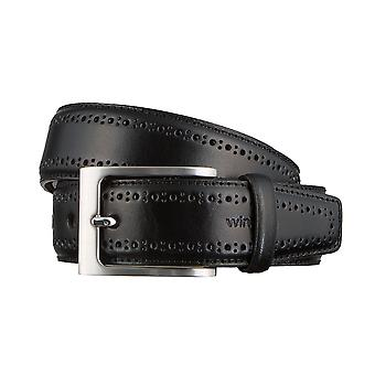 Windsor. Belts men's belts leather belt black 3171