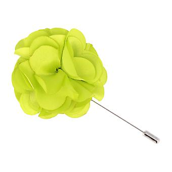 Mr. icone revers-corsage flower pin light green