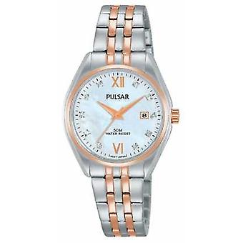 Pulsar Ladies Two Tone Pearl Dial PH7458X1 Watch