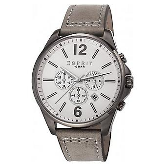 ESPRIT mens watch wristwatch Tallac leather Chrono ES106921004