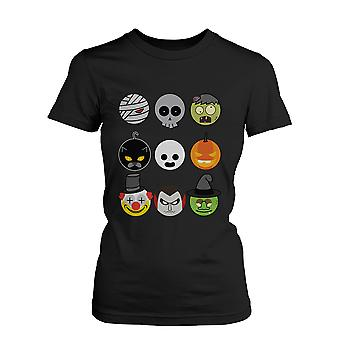 Halloween Monsters Women's Shirt Humorous Graphic Tee for Haunt Night Funny Shirt