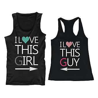 I Love This Guy and Girl His and Her Matching Tank Tops for Couples