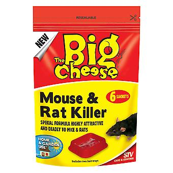 Big Cheese mus & rotte Killer - 6 Pasta breve (pakke med 6)
