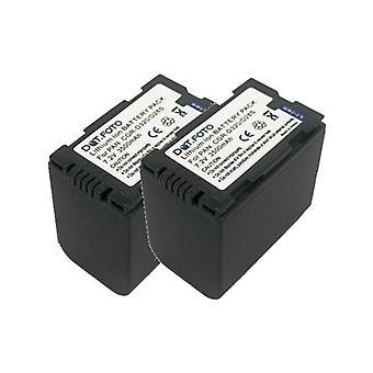 2 x Dot.Foto Panasonic CGR-D28S, batterie CGR-D320 - 7.2V / 3500mAh