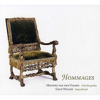 Van Der Velden, Mieneke & Glen Wilson - Hommages [CD] USA import