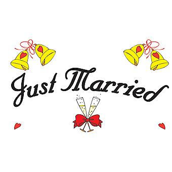 5ft x 3ft Flag - Just Married