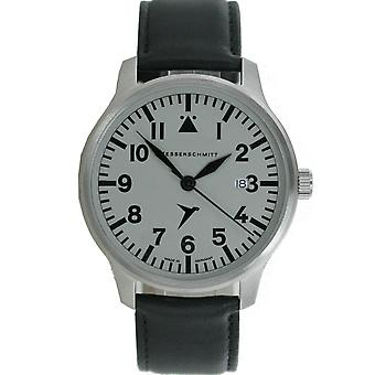 Aristo gentlemen Messerschmitt Fliegeruhr ME watch-42 S leather