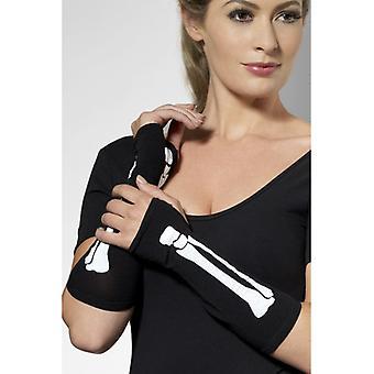 Bot wit bot handschoenen, zwarte handschoenen