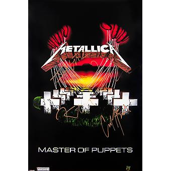Metallica Master of Puppets Signed Poster