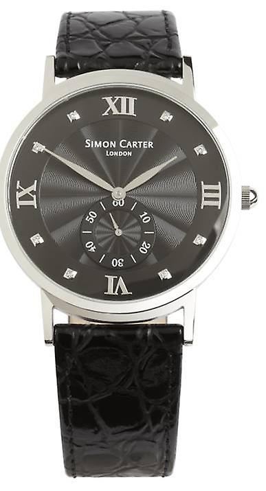 Simon Carter Diamond Embellished Watch - Black