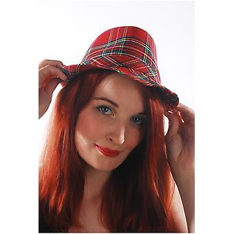 Gorro Punk sombreros con tartán escocés