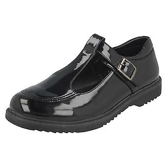 Girls Cool For School T-Bar Buckle School Shoes H2433
