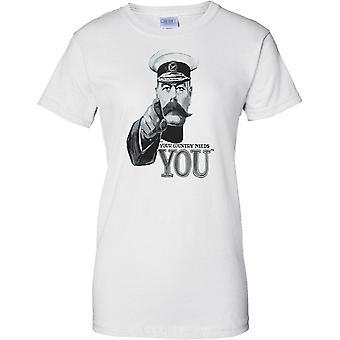 Seu país precisa de você - WW2 Poster propaganda - guerra de mundo - feminina T-Shirt