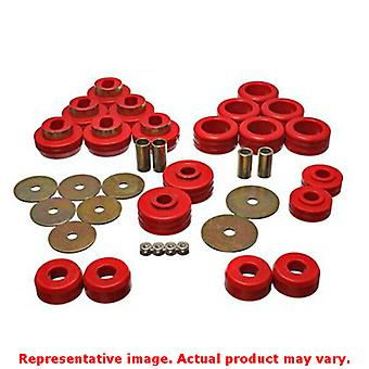 Energy Suspension 3.4118R Red Energy Suspension Body Mount Set Fits:CHEVROLET 1
