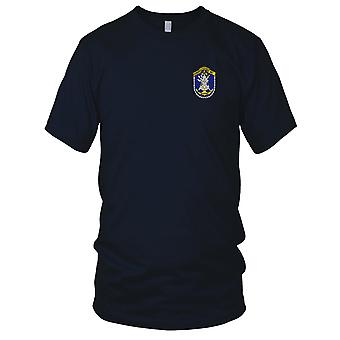 US Navy Naval Harbor Clearance Unit One Embroidered Patch - Ladies T Shirt