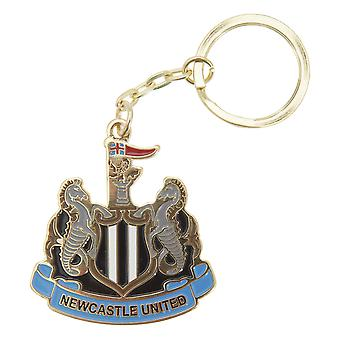 Newcastle United FC Official Metal Football Crest Keyring