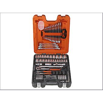 Bahco BAHS106 S106 Socket & Spanner Set Of 106 Metric 1/4 & 1/2in Drive