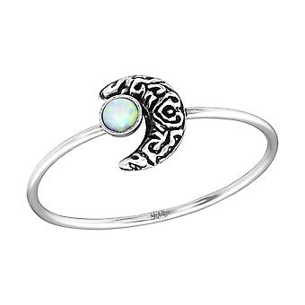 Moon - 925 Sterling Silver Jewelled Rings - W35074x