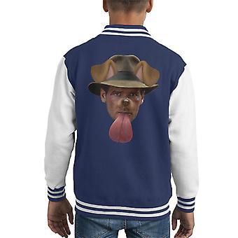 Indiana Jones Dog Snapchat Filter Kid's Varsity Jacket