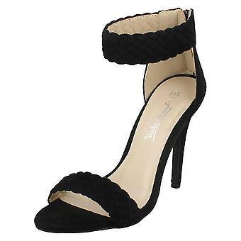 Ladies Anne Michelle Braided Ankle Strap Sandals F10775