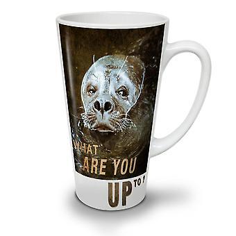 You Up To Seal Animal NEW White Tea Coffee Ceramic Latte Mug 17 oz | Wellcoda