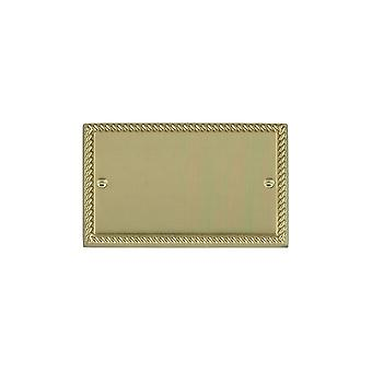 Hamilton Litestat Cheriton Georgian Polished Brass Double Blank Plate