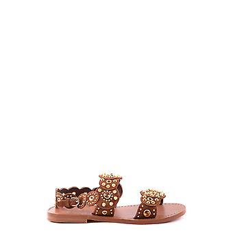 Ash women's MCBI027009O brown leather sandals