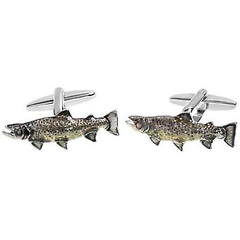 Zennor Carp Fish Cufflinks - Brown/Silver