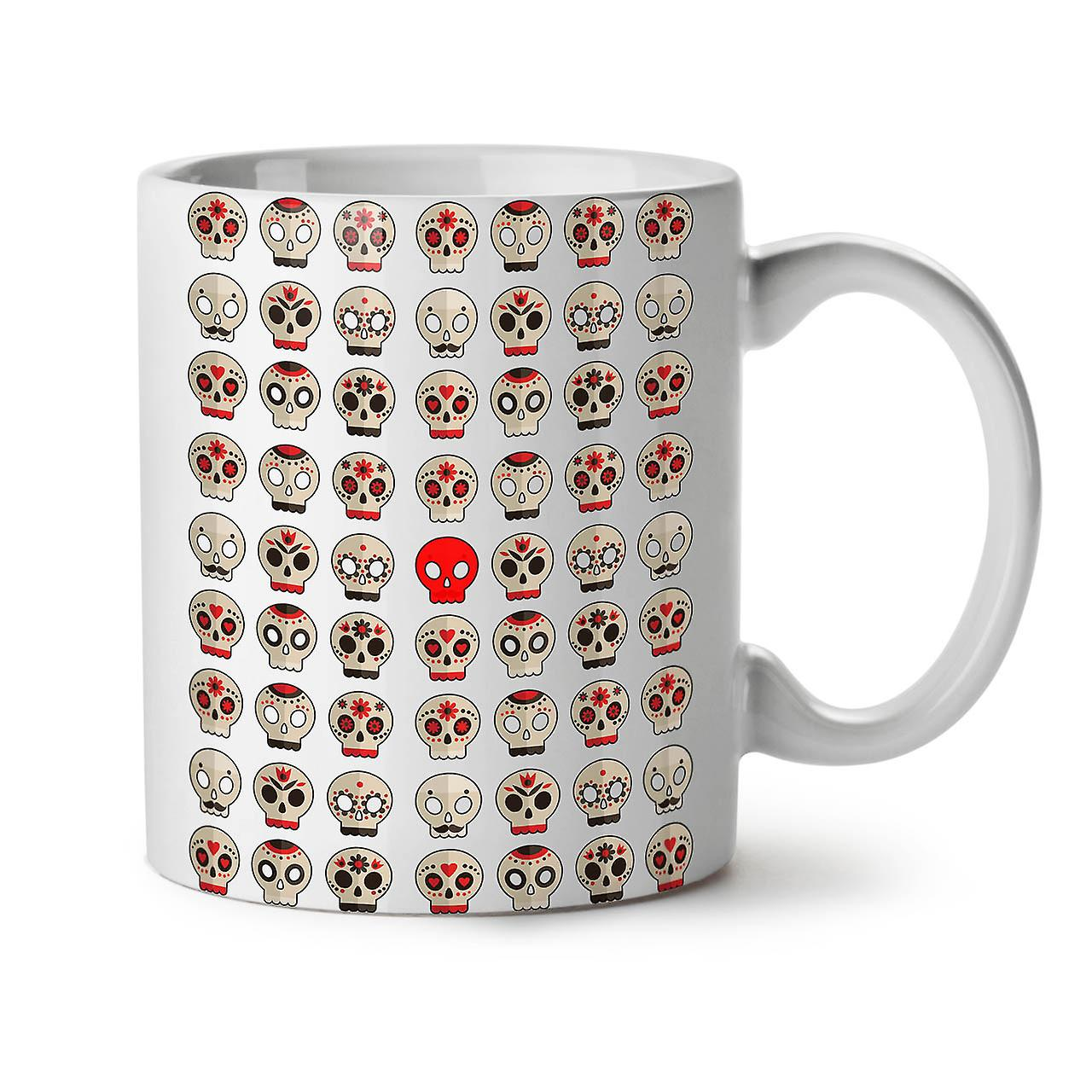 Ceramic Tea Mug White Coffee New Skull OzWellcoda 11 Death Pattern u3TlcFK1J
