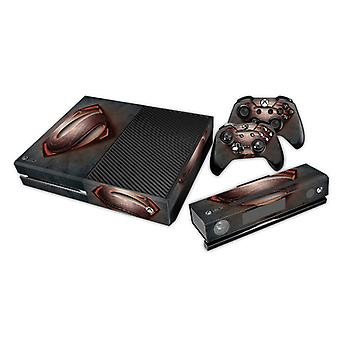 REYTID Superman Black/Red Xbox One Console Skin / Sticker + 2 x Controller Decals & Kinect Wrap - Full Set - Microsoft XB1