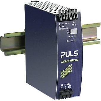 Rail mounted PSU (DIN) PULS DIMENSION 24 Vdc 5 A 120 W 1 x