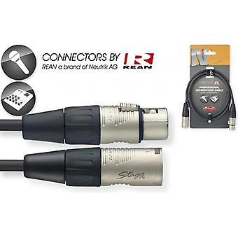 StagG 1m / 3ft XLR til XLR Deluxe mikrofon-kabel