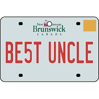 NEW BRUNSWICK - Best Uncle License Plate Car Air Freshener