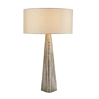 Bark Grey Wood Table Lamp With Shade - Searchlight 1026gy