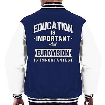 Utbildning är viktigt men Eurovision är Importantest mäns Varsity jacka